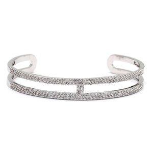 Fashion silver micro crystal bracelet